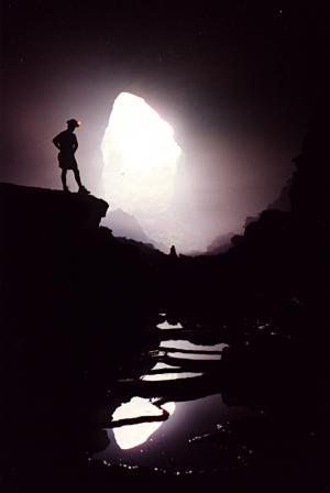 Rob Garrett in Solution Cave, Nandan, China